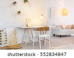 stylish apartment interior with ... | Shutterstock . vector #552834847