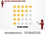 5 star rating icon vector... | Shutterstock .eps vector #552842533