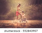 muay thai  muai thai or thai... | Shutterstock . vector #552843907