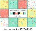 trendy geometric elements... | Shutterstock .eps vector #552849163