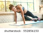 asian women exercise indoor at