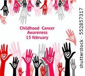 childhood cancer day golden... | Shutterstock .eps vector #552857317