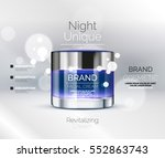 vector premium cream ads ... | Shutterstock .eps vector #552863743