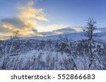 winter landscape in svandalen... | Shutterstock . vector #552866683