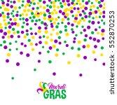 bright abstract dot mardi gras... | Shutterstock .eps vector #552870253