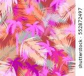 tropical palm seamless vector... | Shutterstock .eps vector #552872497