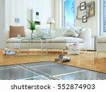 heating concept. underfloor... | Shutterstock . vector #552874903