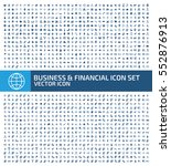 Business and finance icon set,clean vector | Shutterstock vector #552876913