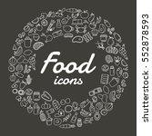 vector food line icons set.   Shutterstock .eps vector #552878593