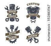 set of auto logos  garage ...   Shutterstock . vector #552883567