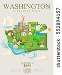 washington vector american... | Shutterstock .eps vector #552894157