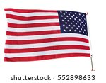 closeup of american flag... | Shutterstock . vector #552898633