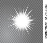 bright glowing light sun burst... | Shutterstock .eps vector #552911803