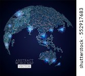 pixel dot world map with... | Shutterstock .eps vector #552917683