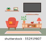 cozy living room interior with... | Shutterstock .eps vector #552919807