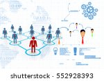3d rendering business network... | Shutterstock . vector #552928393