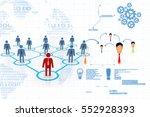 3d rendering business network... | Shutterstock . vector #552928393