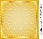 ancient oriental vintage golden ... | Shutterstock .eps vector #552928447