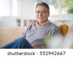 smiling senior man with...   Shutterstock . vector #552942667