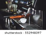 coffee espresso and coffee... | Shutterstock . vector #552948397