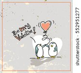 valentine's day card doodle... | Shutterstock .eps vector #552951277