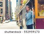 san francisco hipster man... | Shutterstock . vector #552959173