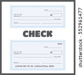 blank check. bank check... | Shutterstock .eps vector #552961477