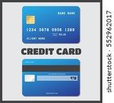 illustration credit card icon.... | Shutterstock .eps vector #552962017