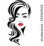 illustration of woman's with... | Shutterstock .eps vector #552965023