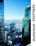 view of modern glass high... | Shutterstock . vector #552970693
