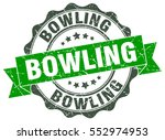bowling. stamp. sticker. seal.... | Shutterstock .eps vector #552974953