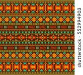 tribal vintage ethnic seamless | Shutterstock .eps vector #552994903