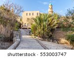 ancient stone streets in arabic ... | Shutterstock . vector #553003747