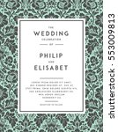vintage wedding invitation... | Shutterstock .eps vector #553009813
