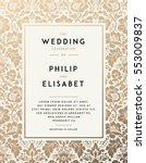 vintage wedding invitation... | Shutterstock .eps vector #553009837