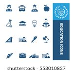 education icon set. vector | Shutterstock .eps vector #553010827