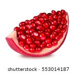 pomegranate isolated on white... | Shutterstock . vector #553014187