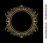 elegant circular classic... | Shutterstock .eps vector #553040233
