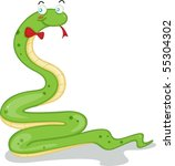 illustration of a snake on a... | Shutterstock .eps vector #55304302