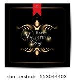happy valentine's day | Shutterstock .eps vector #553044403