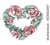 vector color hand drawn...   Shutterstock .eps vector #553052047