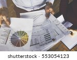 business reports concept | Shutterstock . vector #553054123