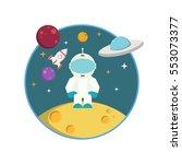flat astronaut | Shutterstock .eps vector #553073377