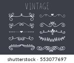 set of hand drawn text dividers....   Shutterstock .eps vector #553077697