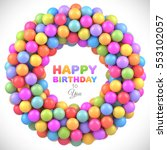 colorful balls frame with place ... | Shutterstock .eps vector #553102057