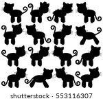 vector collection of cute cat... | Shutterstock .eps vector #553116307