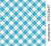 blue gingham seamless pattern.... | Shutterstock .eps vector #553120657