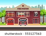 a vector illustration of fire... | Shutterstock .eps vector #553127563