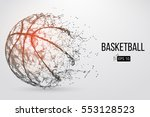 silhouette of a basketball ball.... | Shutterstock .eps vector #553128523