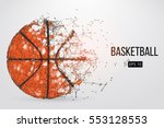silhouette of a basketball ball.... | Shutterstock .eps vector #553128553